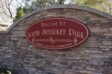 picture of the sign at South Setauket Park entrance